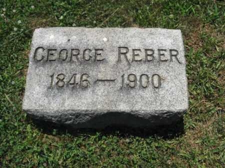 REBER, GEORGE - Berks County, Pennsylvania | GEORGE REBER - Pennsylvania Gravestone Photos