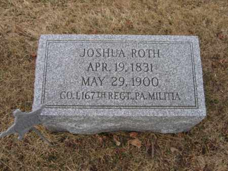 ROTH  (CW), JOSHUA - Berks County, Pennsylvania | JOSHUA ROTH  (CW) - Pennsylvania Gravestone Photos