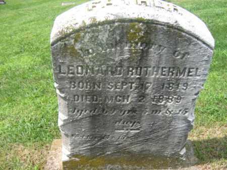 ROTHERMEL, LEONARD - Berks County, Pennsylvania | LEONARD ROTHERMEL - Pennsylvania Gravestone Photos