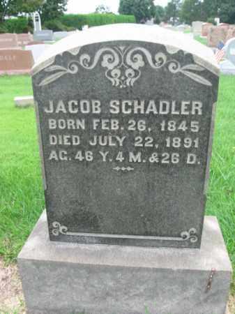 SCHADLER, JACOB - Berks County, Pennsylvania   JACOB SCHADLER - Pennsylvania Gravestone Photos