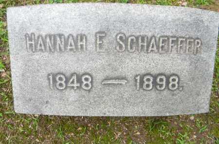 SCHAEFFER, HANNAH F. - Berks County, Pennsylvania | HANNAH F. SCHAEFFER - Pennsylvania Gravestone Photos