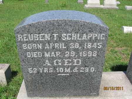 SCHLAPPIC, REUBEN T. - Berks County, Pennsylvania   REUBEN T. SCHLAPPIC - Pennsylvania Gravestone Photos
