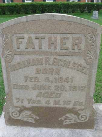 SCHLEGEL, ABRAHAM R. - Berks County, Pennsylvania | ABRAHAM R. SCHLEGEL - Pennsylvania Gravestone Photos