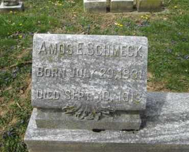 SCHMECK, AMOS E. - Berks County, Pennsylvania | AMOS E. SCHMECK - Pennsylvania Gravestone Photos