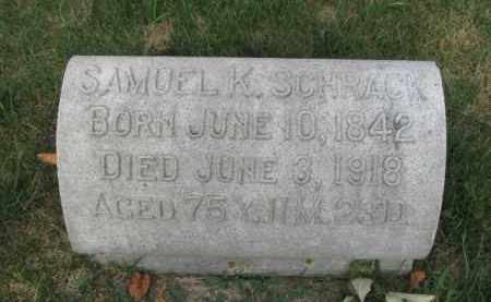 SCHRACK, SAMUEL H. - Berks County, Pennsylvania   SAMUEL H. SCHRACK - Pennsylvania Gravestone Photos
