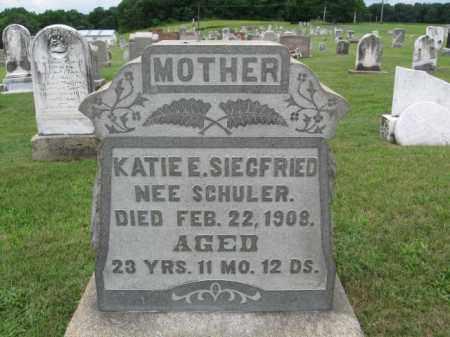 SCHULER SIEGFRIED, KATIE E. - Berks County, Pennsylvania | KATIE E. SCHULER SIEGFRIED - Pennsylvania Gravestone Photos