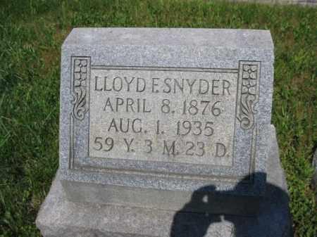 SNYDER, LLOYD F. - Berks County, Pennsylvania | LLOYD F. SNYDER - Pennsylvania Gravestone Photos
