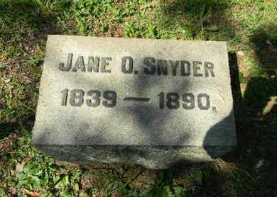 SNYDER, JANE O. - Berks County, Pennsylvania | JANE O. SNYDER - Pennsylvania Gravestone Photos