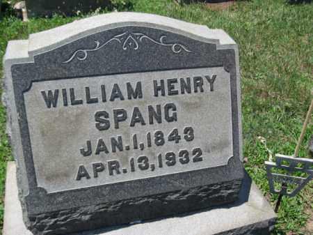 SPANG, WILLIAM HENRY - Berks County, Pennsylvania | WILLIAM HENRY SPANG - Pennsylvania Gravestone Photos
