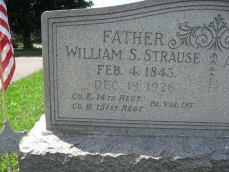 STRAUSE  (CW), WILLIAM - Berks County, Pennsylvania | WILLIAM STRAUSE  (CW) - Pennsylvania Gravestone Photos