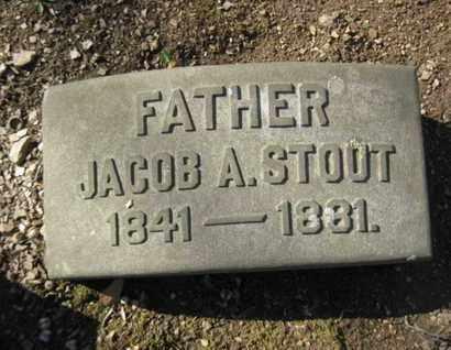 STOUT, JACOB A. - Berks County, Pennsylvania | JACOB A. STOUT - Pennsylvania Gravestone Photos