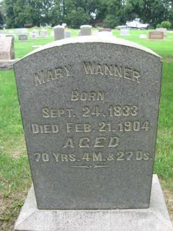 WANNER, MARY - Berks County, Pennsylvania | MARY WANNER - Pennsylvania Gravestone Photos