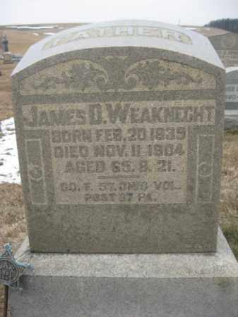 WEAKNECHT (WEITKNECHT) (CW), JAMES D. - Berks County, Pennsylvania | JAMES D. WEAKNECHT (WEITKNECHT) (CW) - Pennsylvania Gravestone Photos