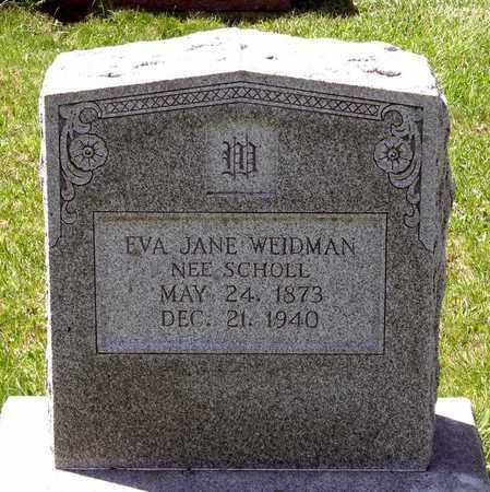 SCHOLL WEIDMAN, EVA JANE - Berks County, Pennsylvania | EVA JANE SCHOLL WEIDMAN - Pennsylvania Gravestone Photos