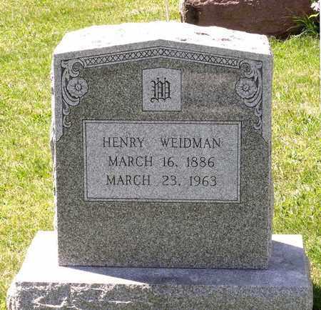 WEIDMAN, HENRY - Berks County, Pennsylvania | HENRY WEIDMAN - Pennsylvania Gravestone Photos