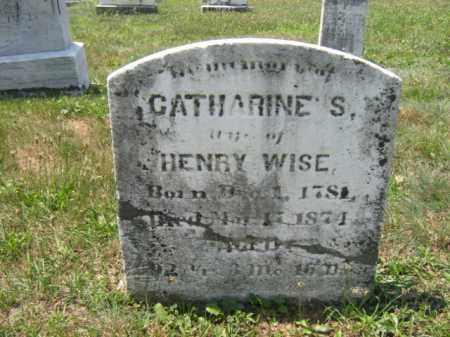 WISE, CATHARINE S. - Berks County, Pennsylvania | CATHARINE S. WISE - Pennsylvania Gravestone Photos