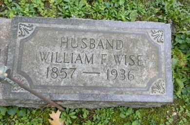 WISE, WILLIAM F. - Berks County, Pennsylvania | WILLIAM F. WISE - Pennsylvania Gravestone Photos
