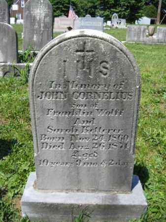 WOLFF, JOHN CORNELIUS - Berks County, Pennsylvania | JOHN CORNELIUS WOLFF - Pennsylvania Gravestone Photos