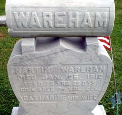 WAREHAM (CW), MARTIN - Blair County, Pennsylvania | MARTIN WAREHAM (CW) - Pennsylvania Gravestone Photos