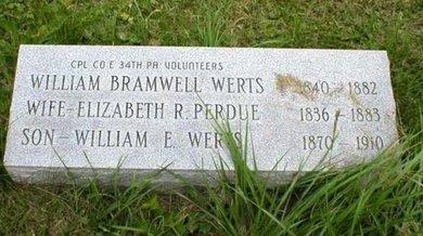 WERTS (CW), WILLIAM B. - Blair County, Pennsylvania | WILLIAM B. WERTS (CW) - Pennsylvania Gravestone Photos