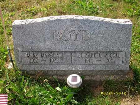 BOYD, EMERY MARSHALL - Bradford County, Pennsylvania | EMERY MARSHALL BOYD - Pennsylvania Gravestone Photos
