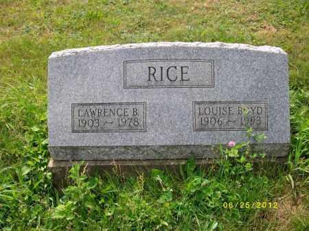 BOYD, LAWRENCE BYRDETTE - Bradford County, Pennsylvania | LAWRENCE BYRDETTE BOYD - Pennsylvania Gravestone Photos