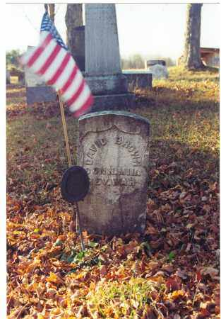 BROWN (RW), DAVID - Bradford County, Pennsylvania   DAVID BROWN (RW) - Pennsylvania Gravestone Photos