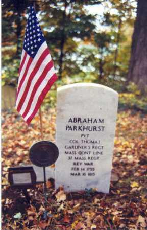PARKHURST (RW), ABRAHAM - Bradford County, Pennsylvania   ABRAHAM PARKHURST (RW) - Pennsylvania Gravestone Photos