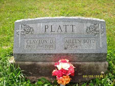 PLATT, CLAYTON DWIGHT - Bradford County, Pennsylvania   CLAYTON DWIGHT PLATT - Pennsylvania Gravestone Photos