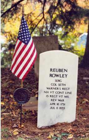 ROWLEY (RW), REUBEN - Bradford County, Pennsylvania | REUBEN ROWLEY (RW) - Pennsylvania Gravestone Photos