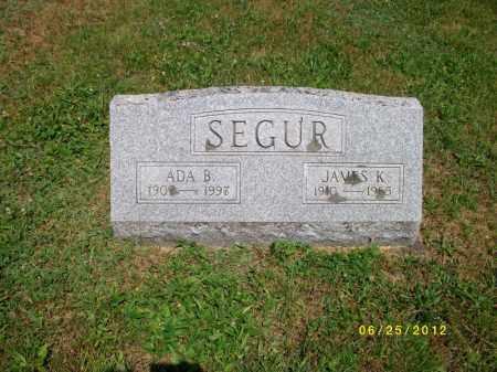 SEGUR, ADA - Bradford County, Pennsylvania | ADA SEGUR - Pennsylvania Gravestone Photos
