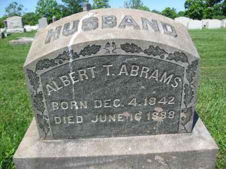 ABRAMS, ALBERT T. - Bucks County, Pennsylvania   ALBERT T. ABRAMS - Pennsylvania Gravestone Photos