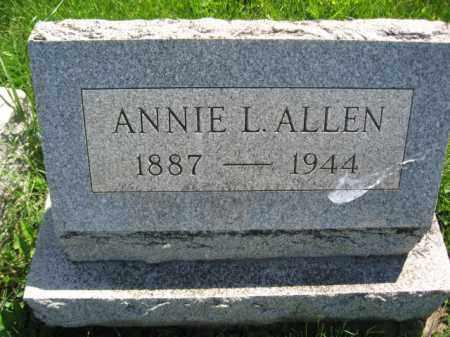 ALLEN, ANNIE L. - Bucks County, Pennsylvania | ANNIE L. ALLEN - Pennsylvania Gravestone Photos