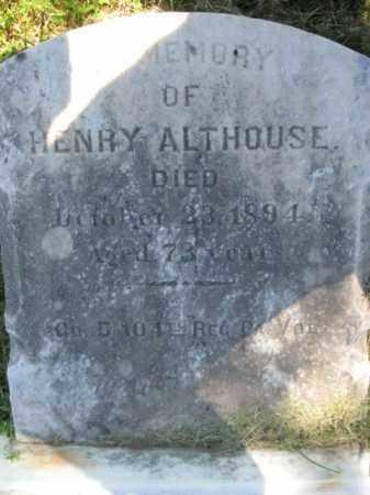 ALTHOUSE (CW), HENRY - Bucks County, Pennsylvania | HENRY ALTHOUSE (CW) - Pennsylvania Gravestone Photos