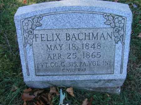 BACHMAN (CW), FELIX - Bucks County, Pennsylvania | FELIX BACHMAN (CW) - Pennsylvania Gravestone Photos