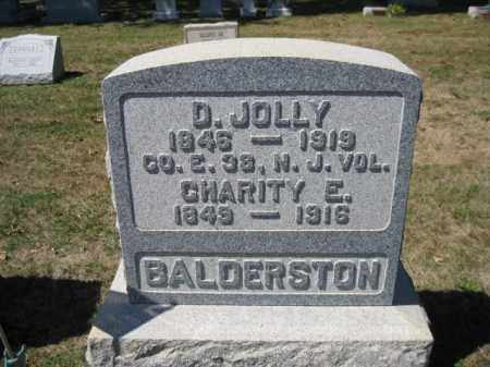 BALDERSTON (CW), D. JOLLY - Bucks County, Pennsylvania | D. JOLLY BALDERSTON (CW) - Pennsylvania Gravestone Photos