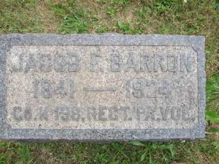 BARRON (CW), JACOB F. - Bucks County, Pennsylvania | JACOB F. BARRON (CW) - Pennsylvania Gravestone Photos