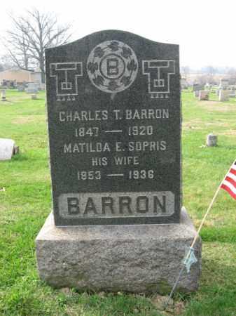 SOPHIS BARRON, MATILDA E. - Bucks County, Pennsylvania | MATILDA E. SOPHIS BARRON - Pennsylvania Gravestone Photos