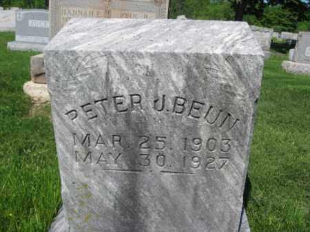 BEUN, PETER J. - Bucks County, Pennsylvania   PETER J. BEUN - Pennsylvania Gravestone Photos