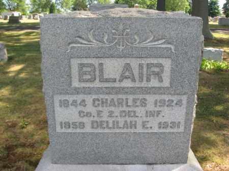 BLAIR (CW), CHARLES - Bucks County, Pennsylvania   CHARLES BLAIR (CW) - Pennsylvania Gravestone Photos