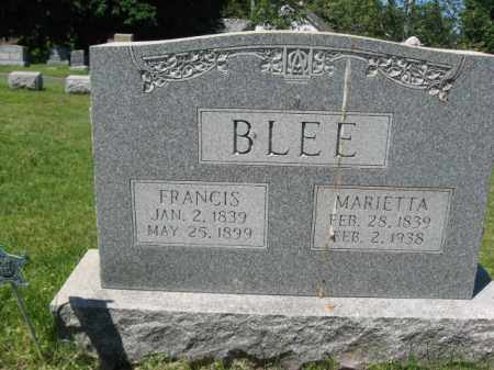 BLEE (CW), FRANCIS - Bucks County, Pennsylvania | FRANCIS BLEE (CW) - Pennsylvania Gravestone Photos