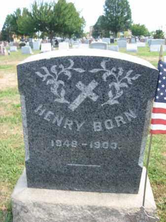 BORN, HENRY - Bucks County, Pennsylvania | HENRY BORN - Pennsylvania Gravestone Photos