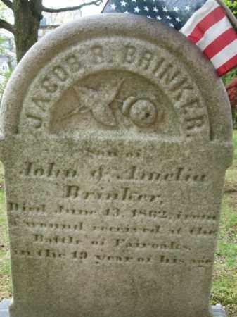 BRINKER  (CW), PVT.JACOB B. - Bucks County, Pennsylvania | PVT.JACOB B. BRINKER  (CW) - Pennsylvania Gravestone Photos