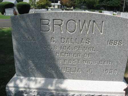 BROWN (CW), GEORGE DALLAS - Bucks County, Pennsylvania | GEORGE DALLAS BROWN (CW) - Pennsylvania Gravestone Photos