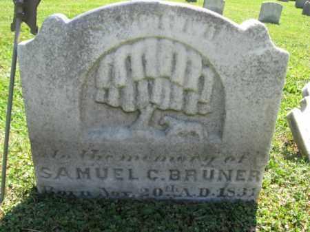 BRUNER (CW), SAMUEL C. - Bucks County, Pennsylvania | SAMUEL C. BRUNER (CW) - Pennsylvania Gravestone Photos