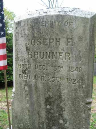 BRUNNER, JOSEPH  F. - Bucks County, Pennsylvania | JOSEPH  F. BRUNNER - Pennsylvania Gravestone Photos