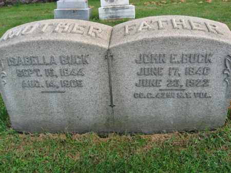 BUCK, JOHN E. - Bucks County, Pennsylvania | JOHN E. BUCK - Pennsylvania Gravestone Photos