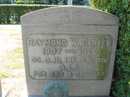 CARTER (WW I), RAYMOND W. - Bucks County, Pennsylvania   RAYMOND W. CARTER (WW I) - Pennsylvania Gravestone Photos