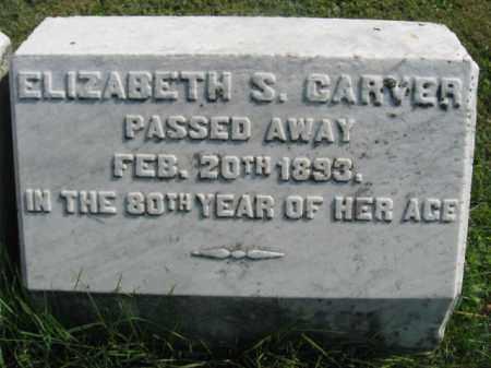 CARVER, ELIZABETH S. - Bucks County, Pennsylvania   ELIZABETH S. CARVER - Pennsylvania Gravestone Photos
