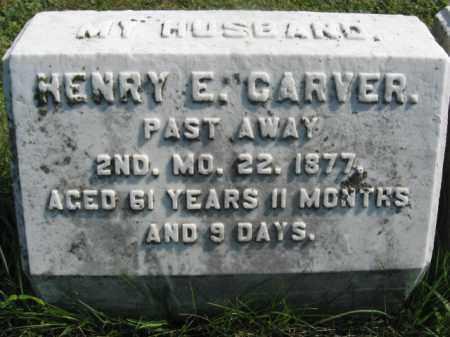 CARVER, HENRY E. - Bucks County, Pennsylvania | HENRY E. CARVER - Pennsylvania Gravestone Photos